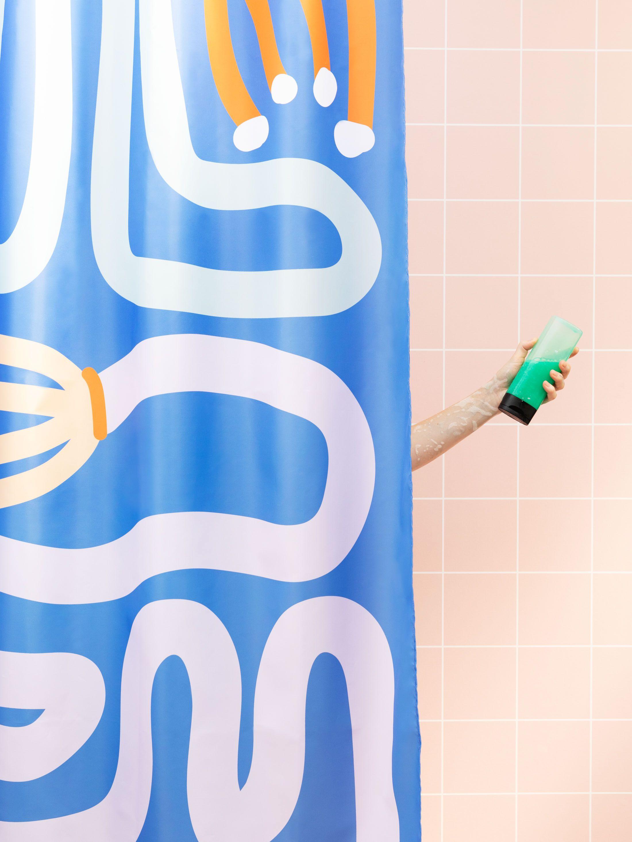 Détails du rideau de douche personnalisé