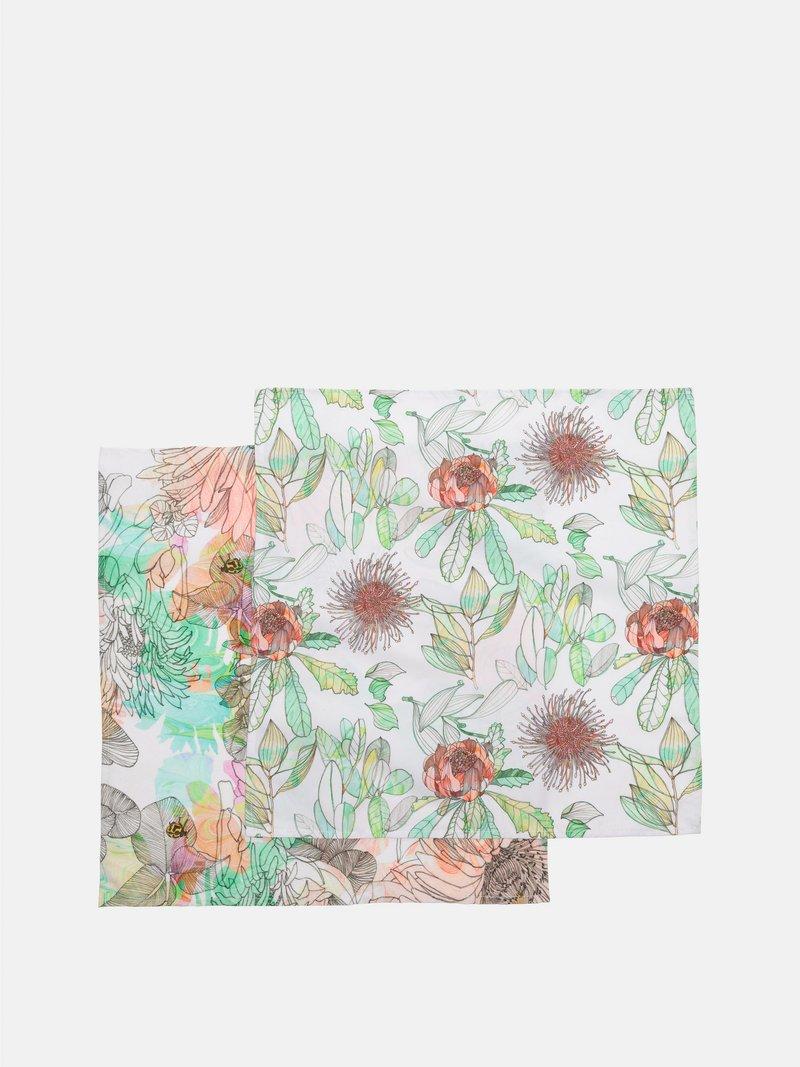 stitching on napkin art