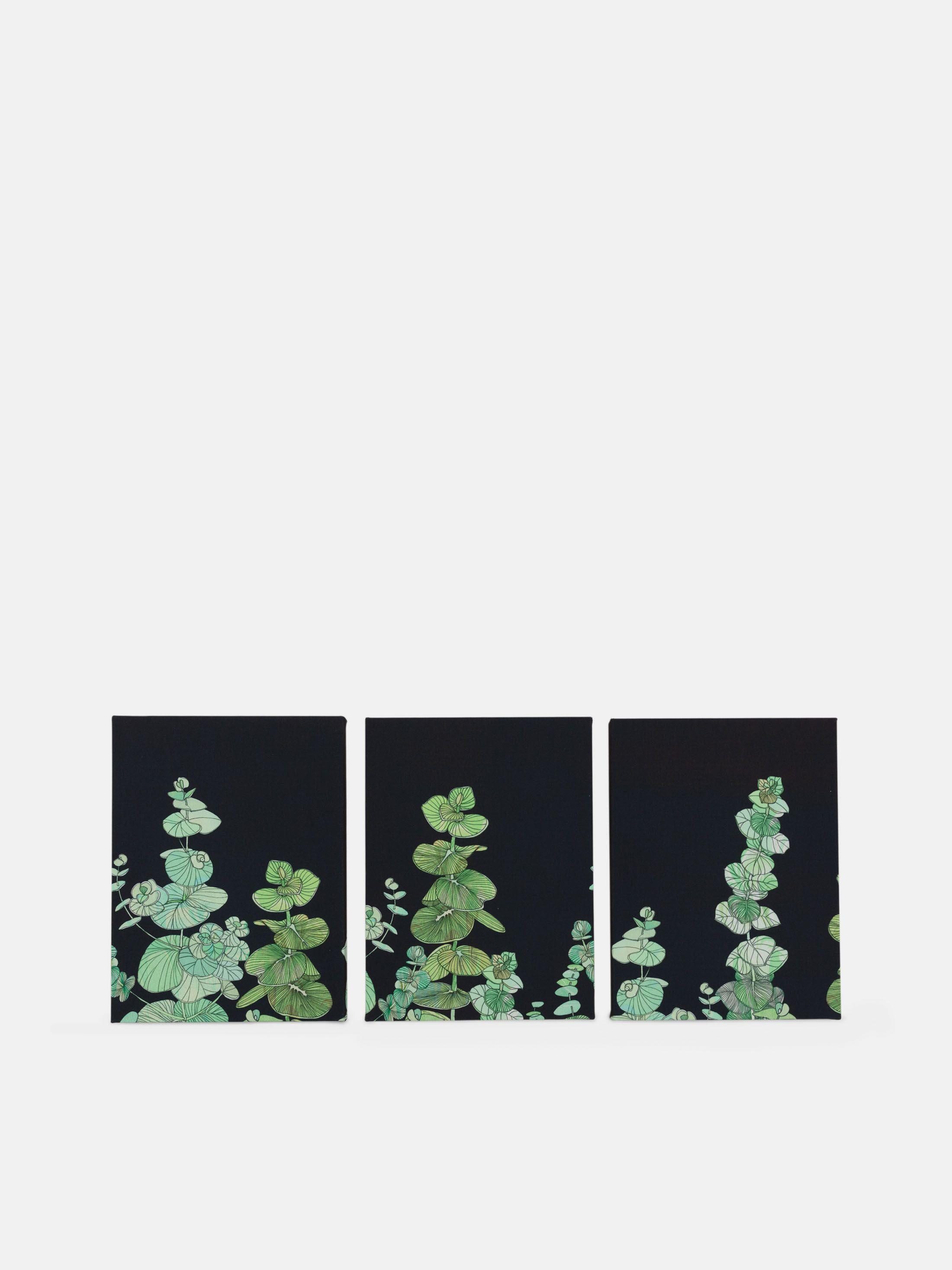 アートの印刷された トリプティックキャンバス