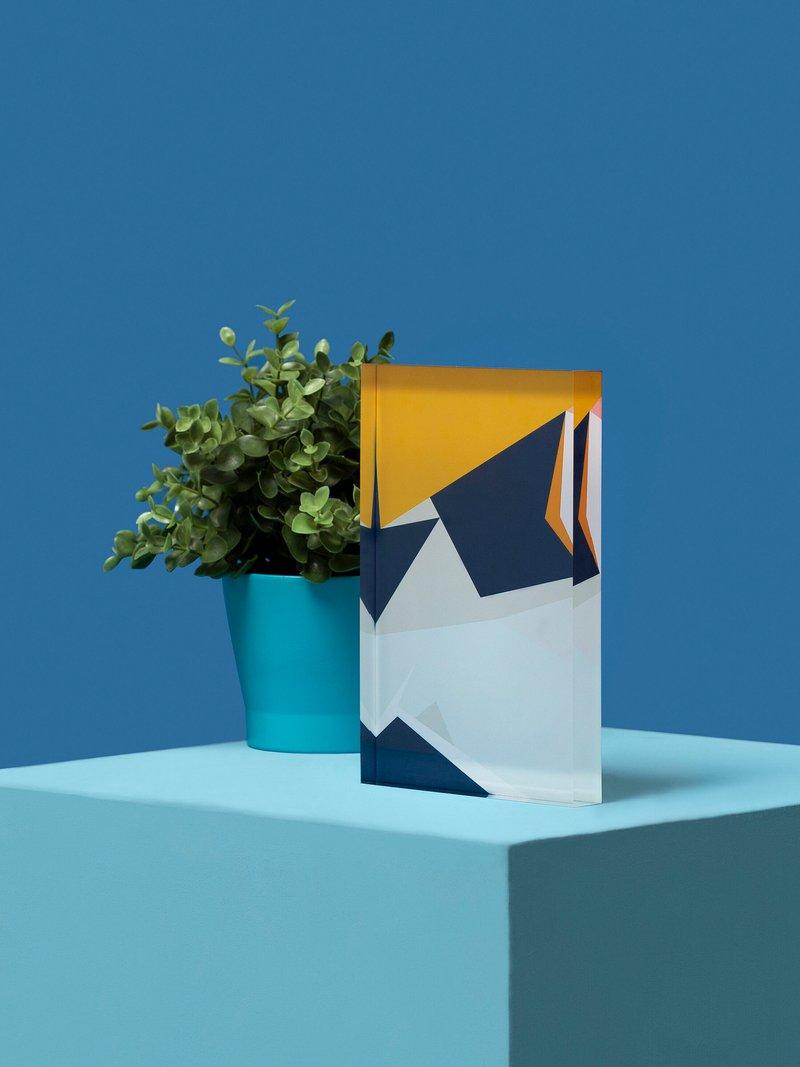 acrylblok met print