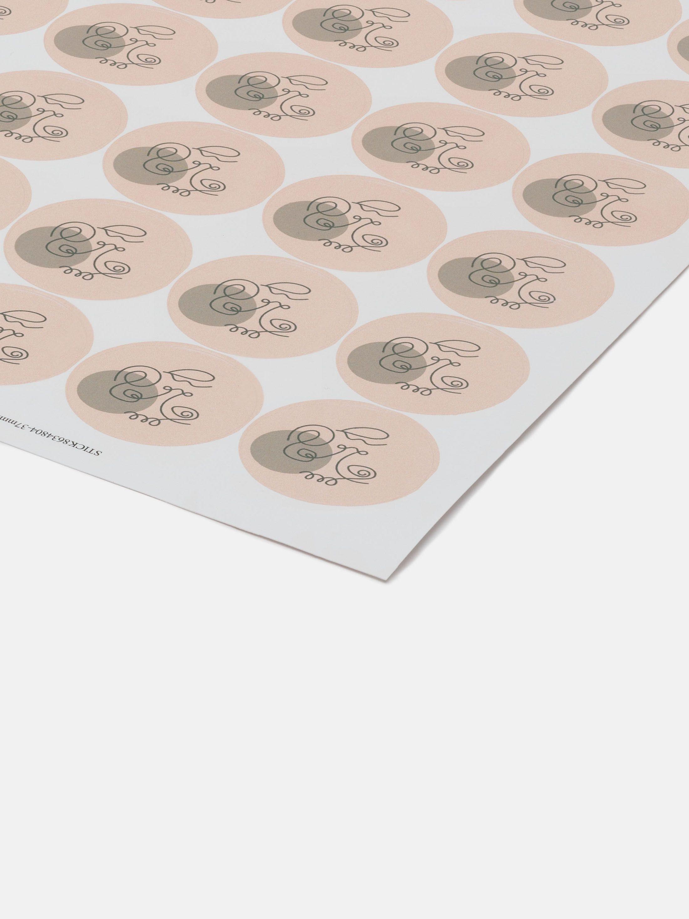Printed sticker sheet 15 sticky peeling labels