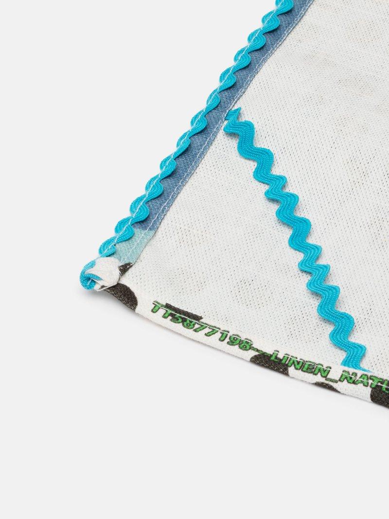 custom tea towel stitching