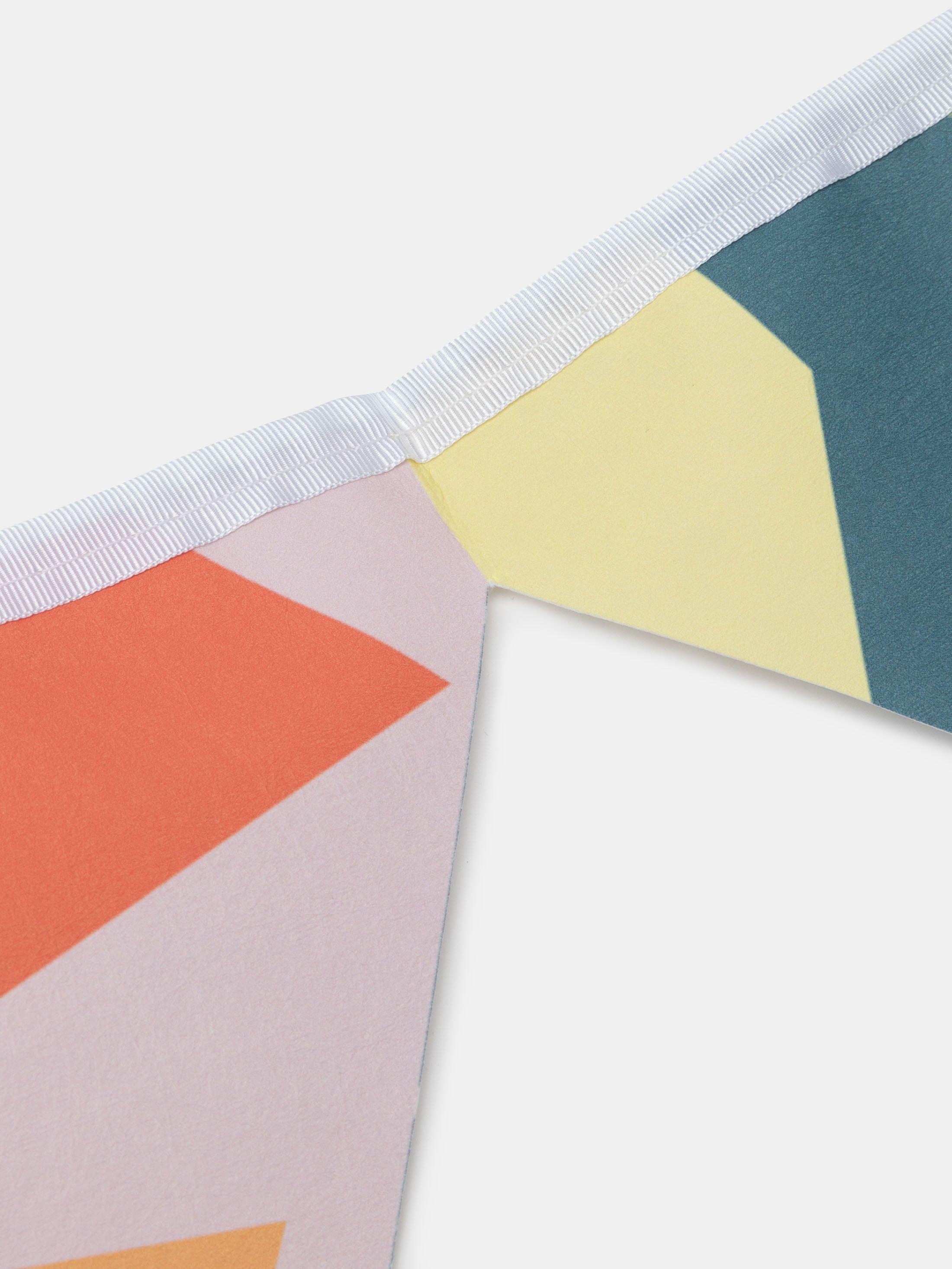 Impression sur guirlande format triangulaire