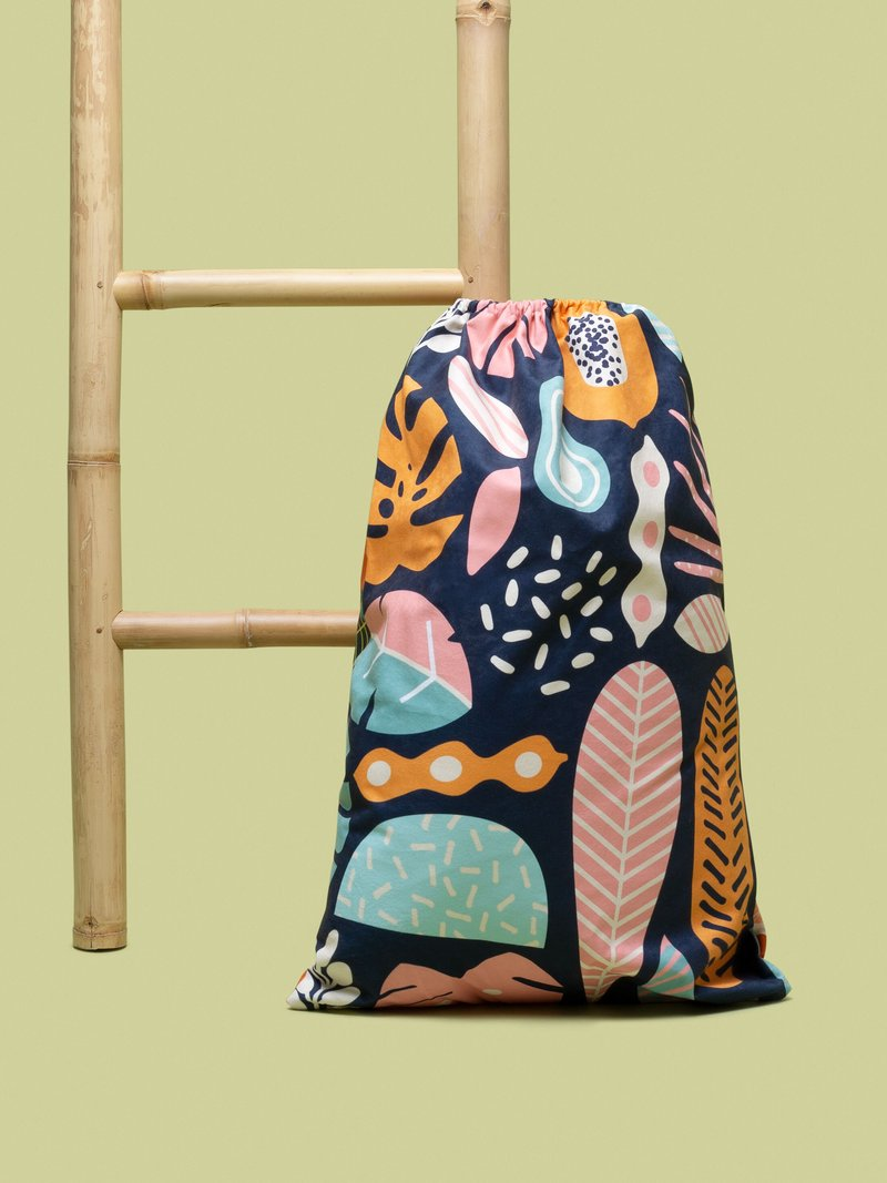 Custom printed laundry bag