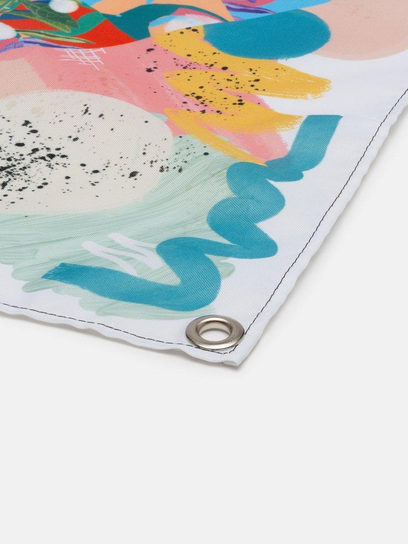 Striscione in tessuto personalizzato per interni