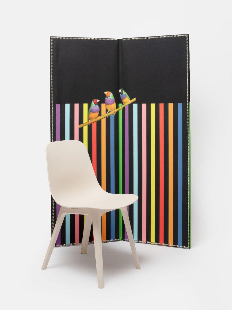 2 panel folding room divider