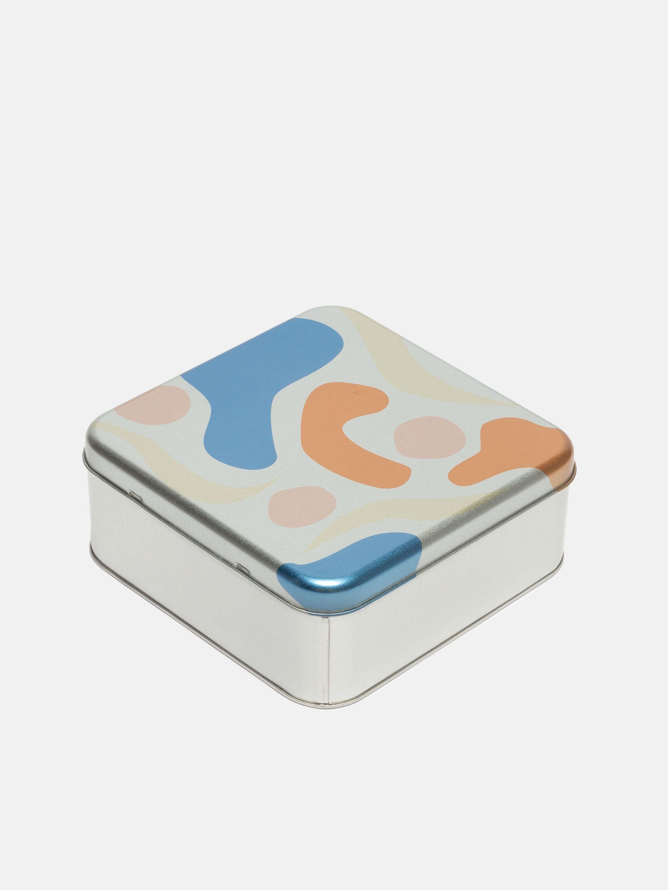 Print personalised square tin lid design