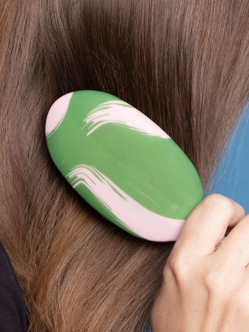 custom hair brush geometric pattern