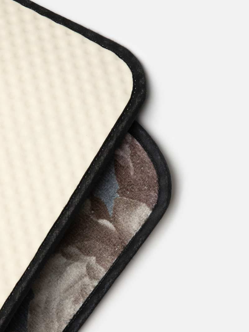 details bedrukte badmat