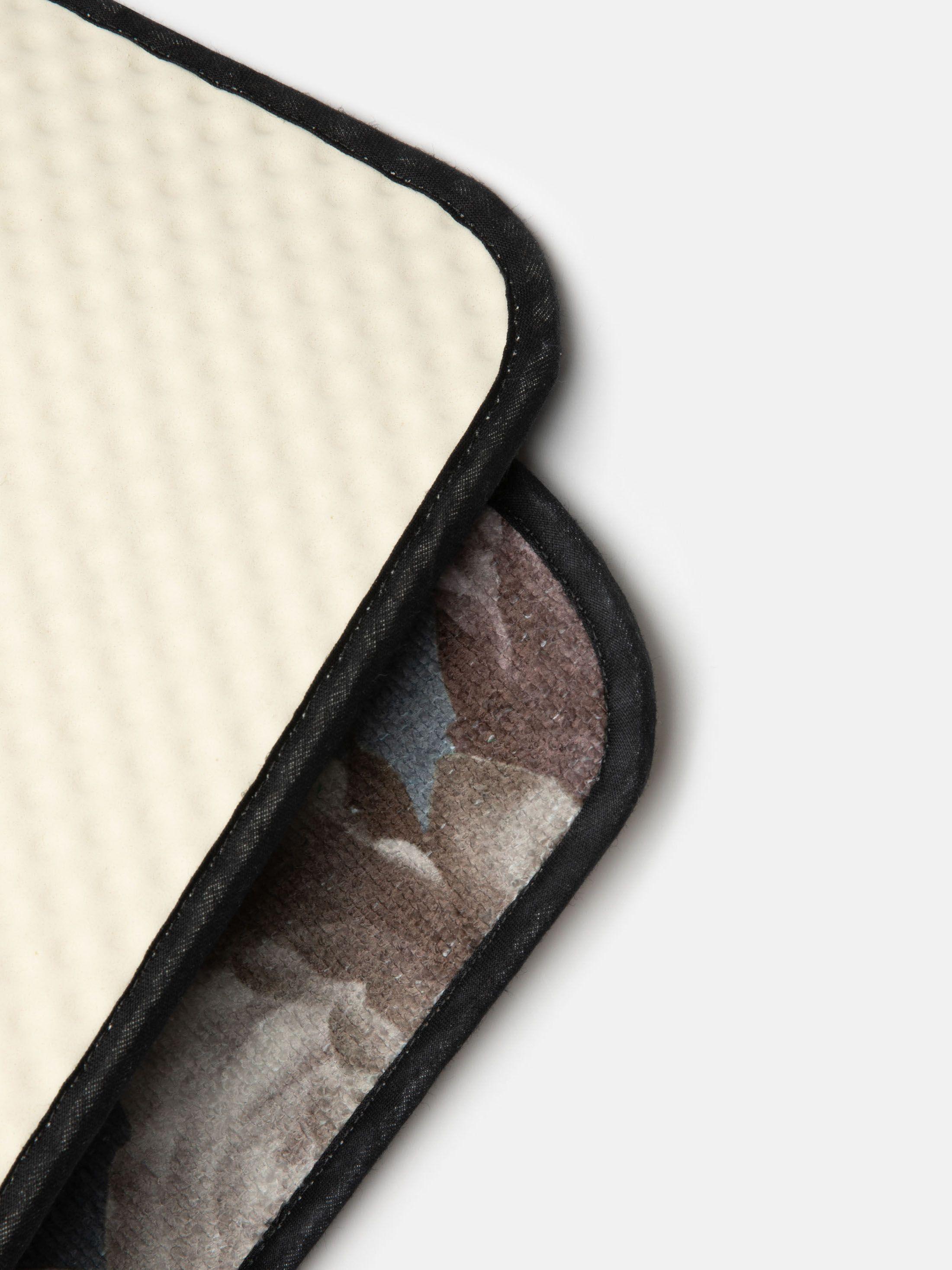 tappeto bagno in tessuto assorbente