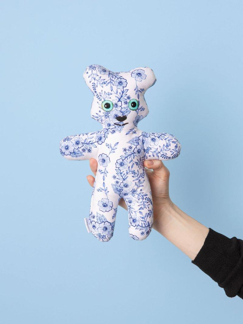 printed teddy bear
