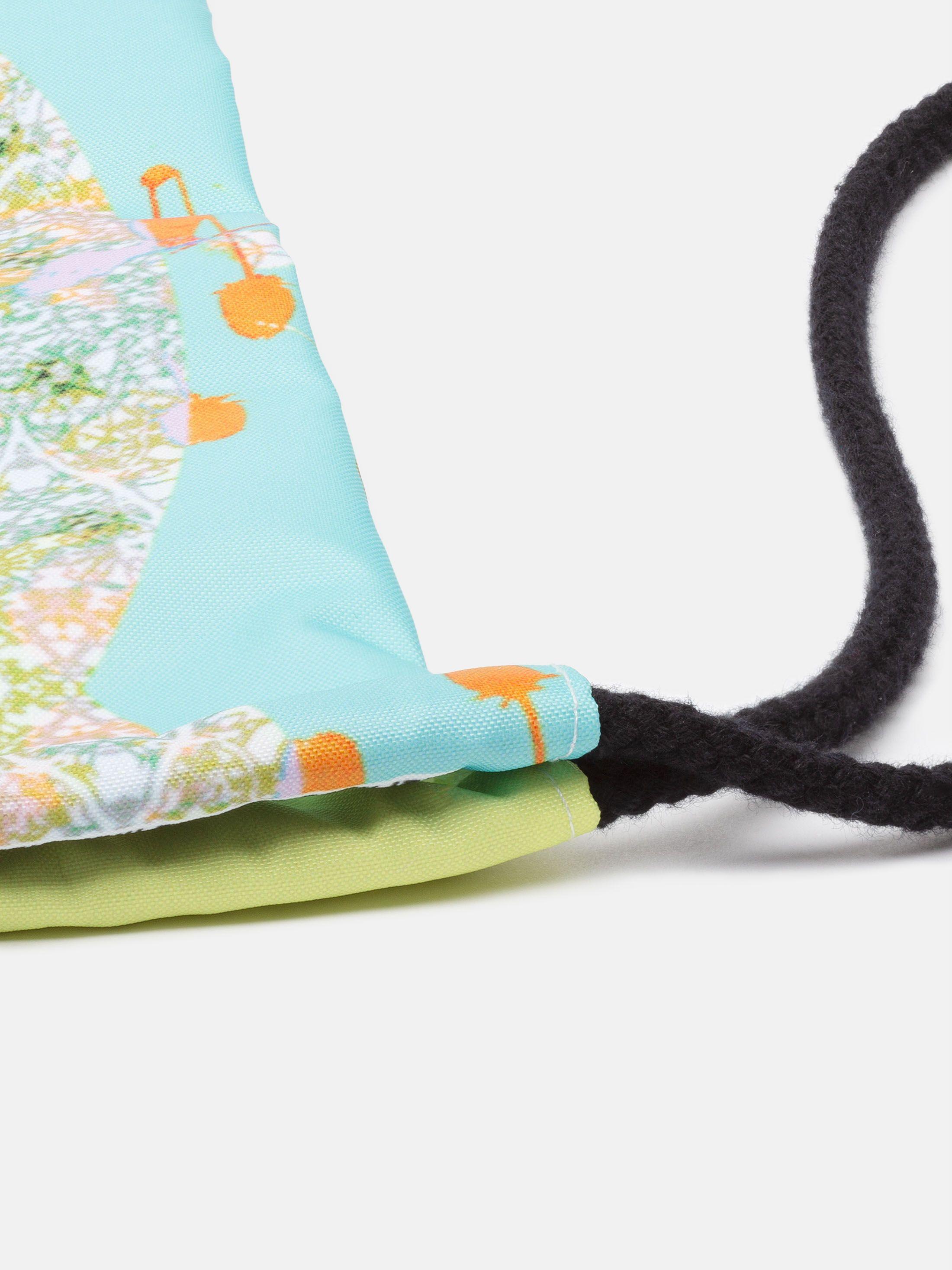 custom cinch sacks with pink floral artwork