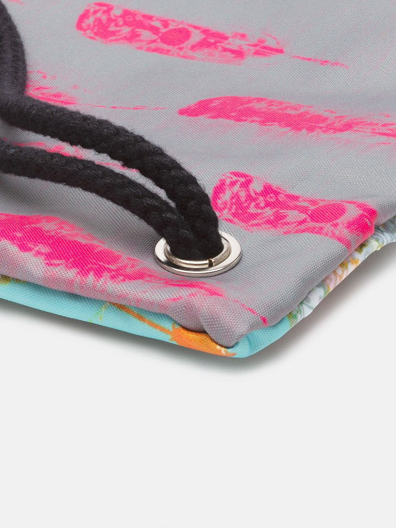 vintage pattern design printed onto drawstring sports bag