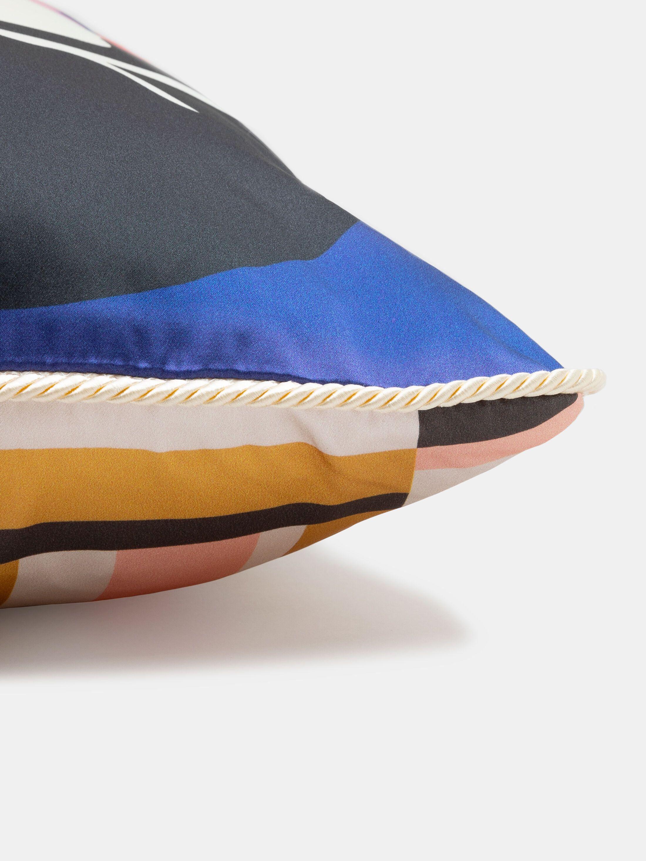 printed silk cushion