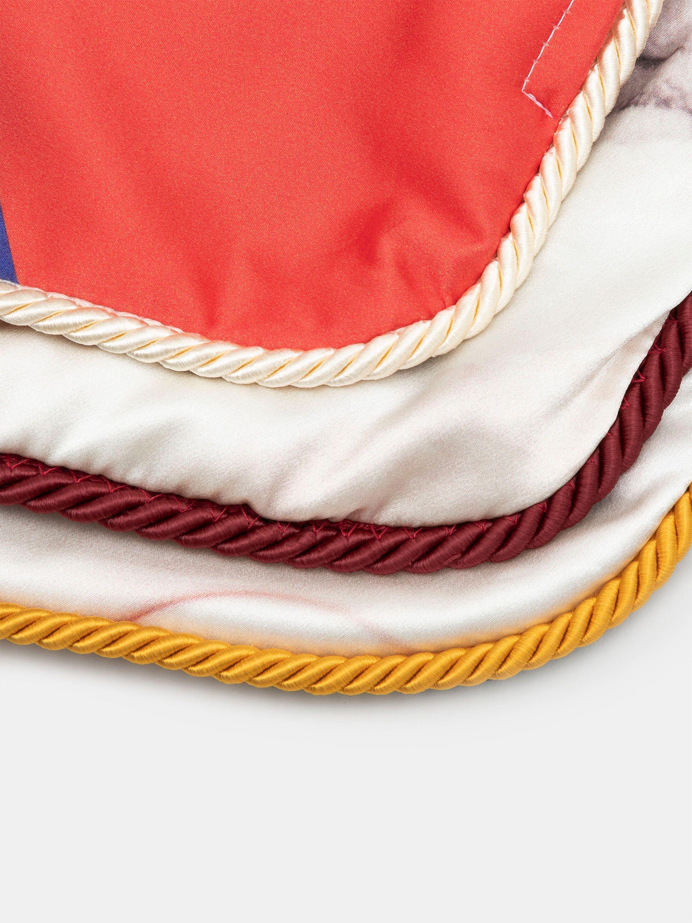 trim colour options for silk cushions