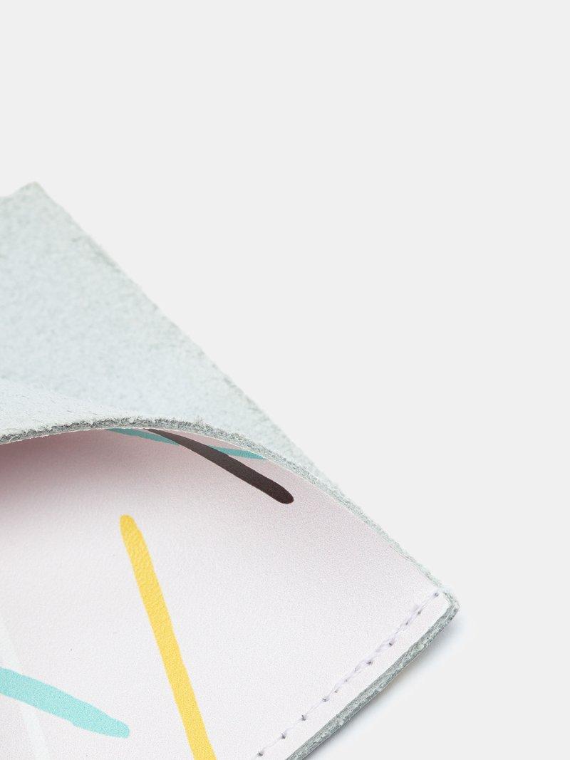 Détails de l'impression sur étui iPad en cuir