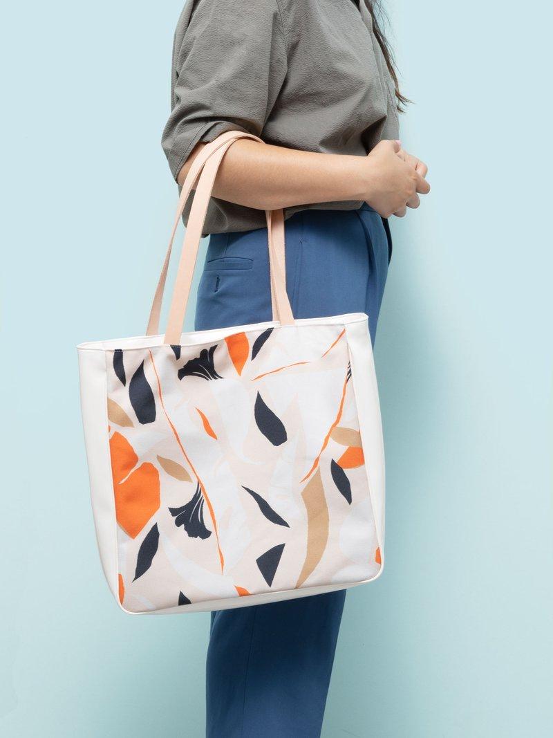 Côté en vinyle du sac de shopping personnalisé
