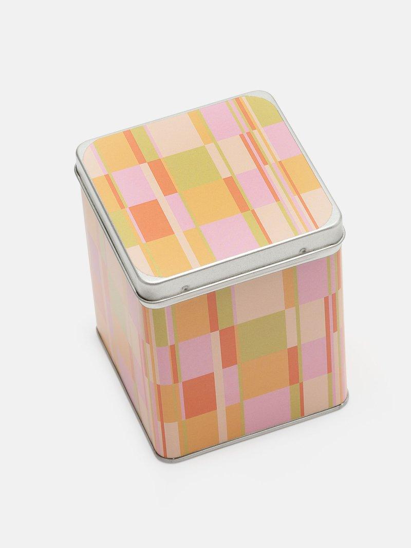 お茶缶にデザインプリント