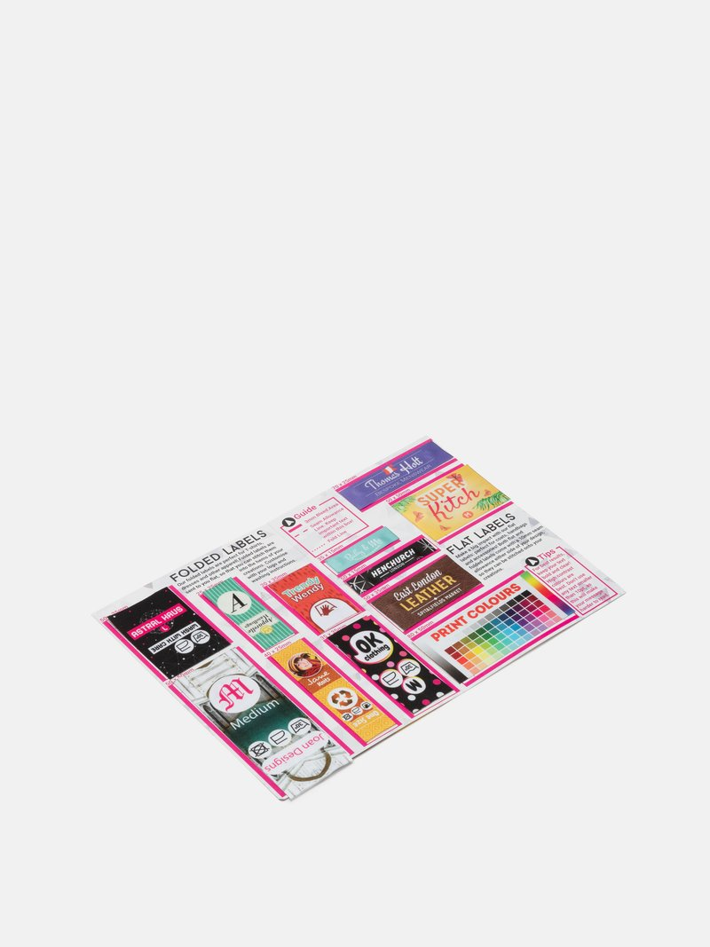 colour print label sample pack