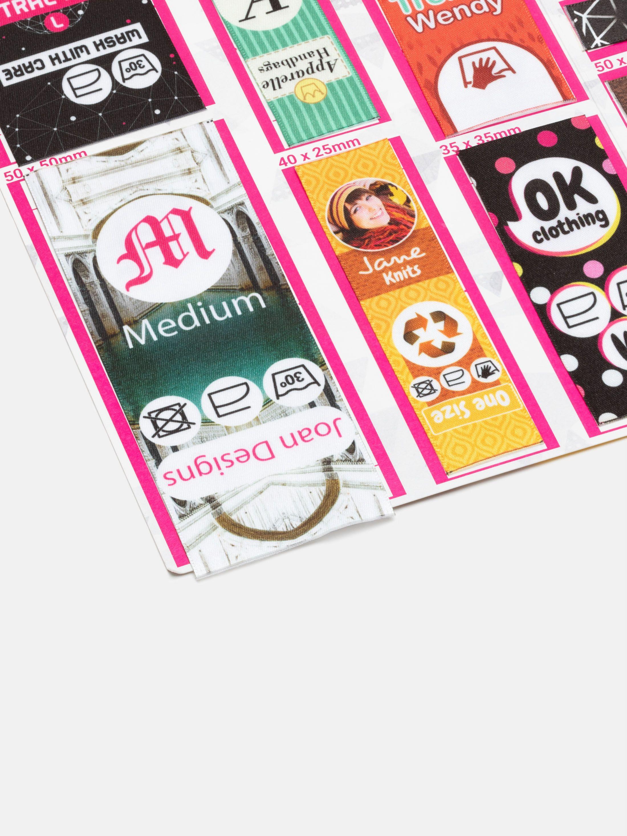 Fabric Label Sample Pack detail