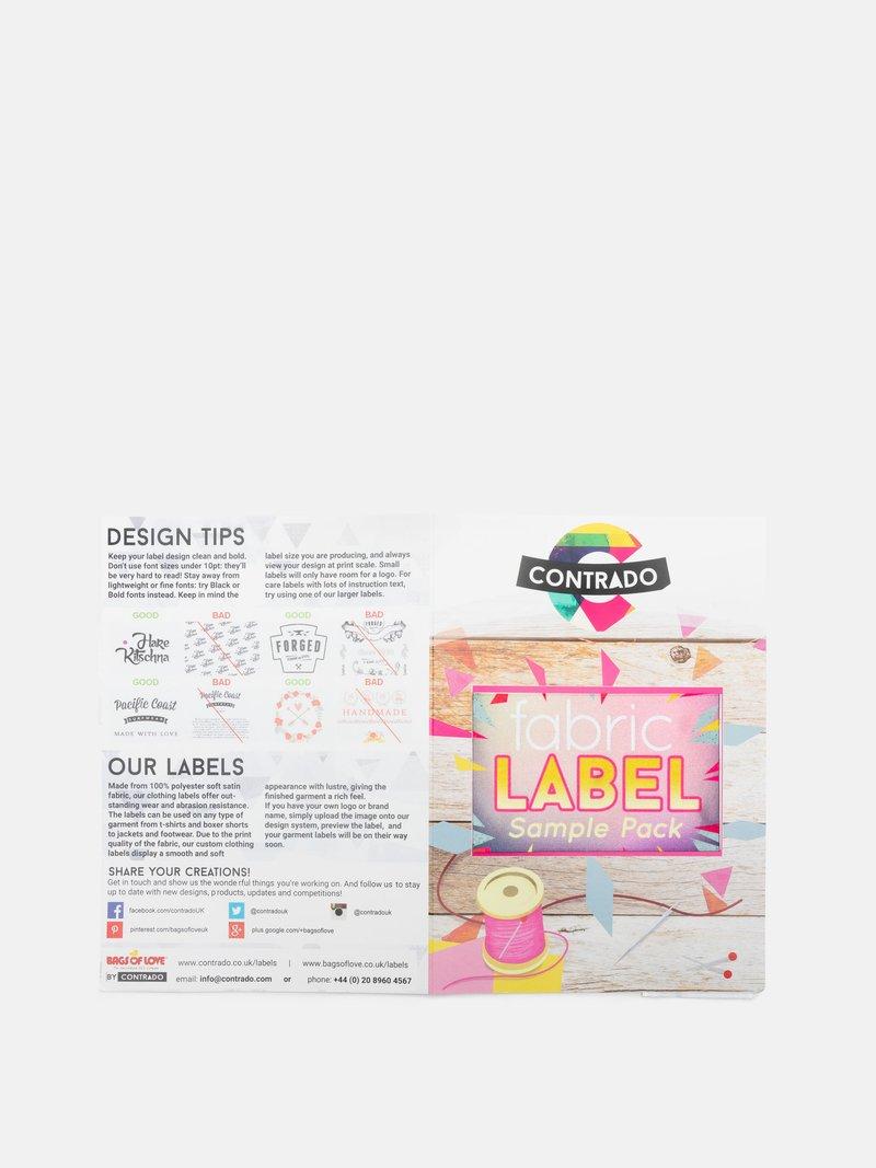 Fabric Label Sample Pack remove label