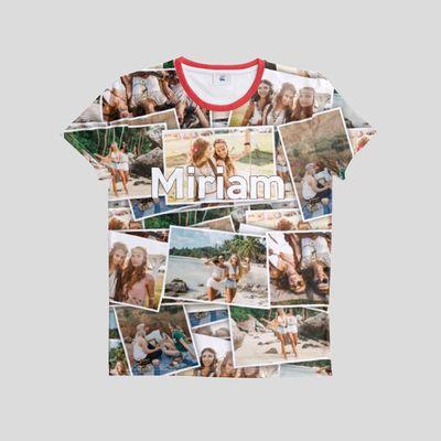 T-shirt med fotocollage