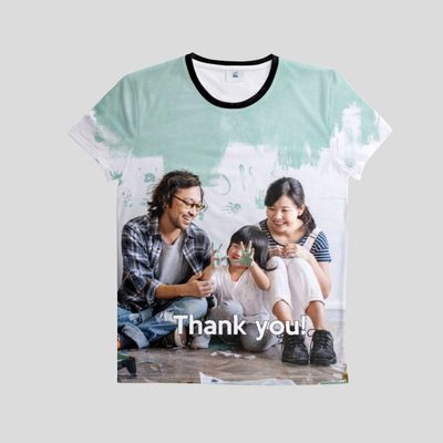 ge bort en personlig t-shirt som tack