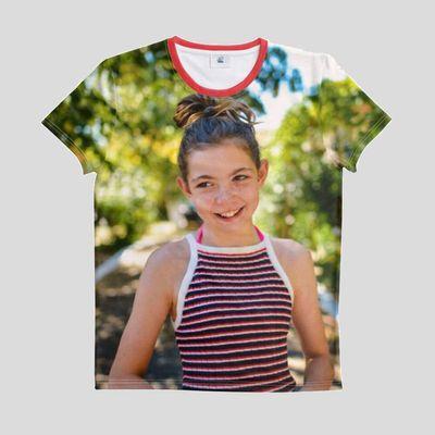 T-shirt de sport personnalisé avec photo