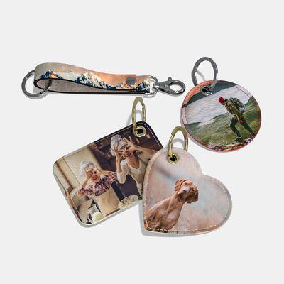 Personalisierte Schlüsselanhänger mit Fotos