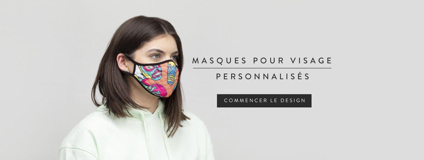 Masque pour visage personnalisé