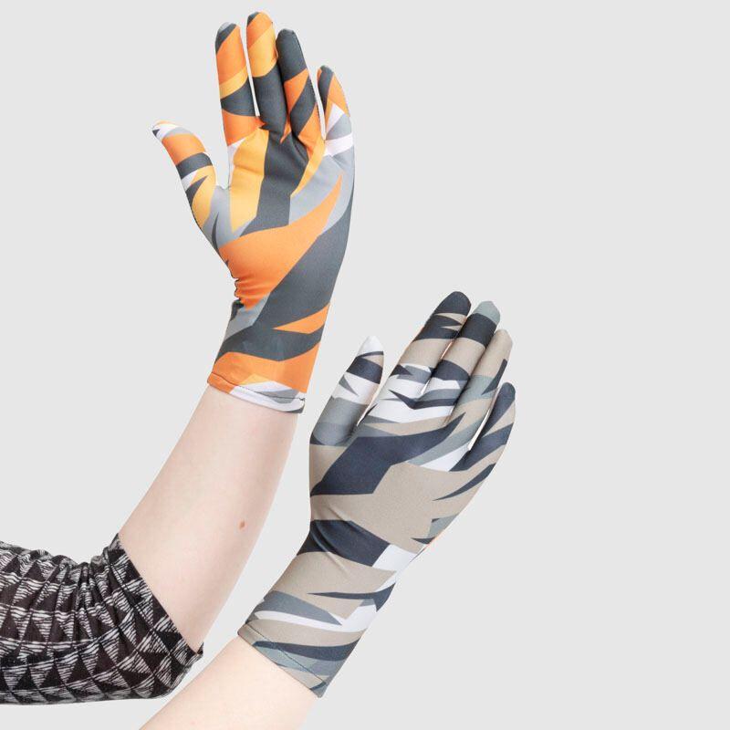 bedrukte dameshandschoenen