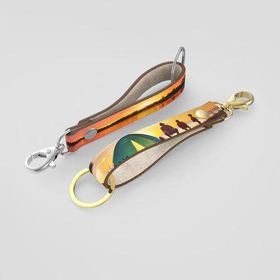 Leder Schlüsselband mit Foto