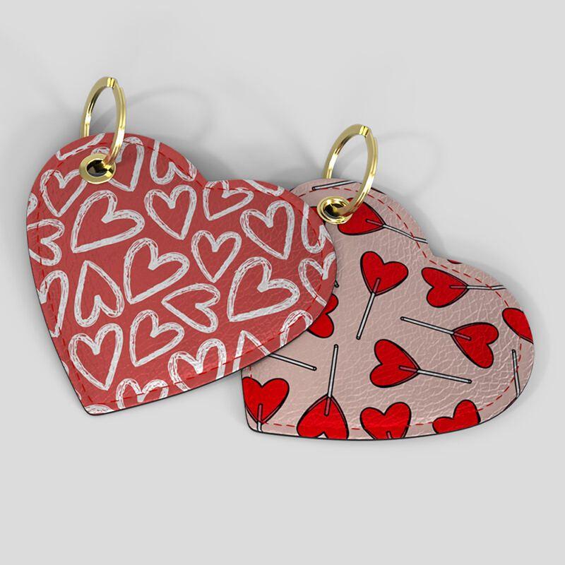 designer heart shaped keyring