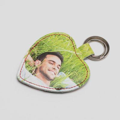 personlig hjärtformad nyckelring