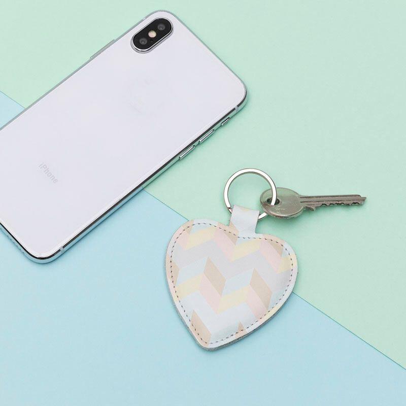 custom heart keyring