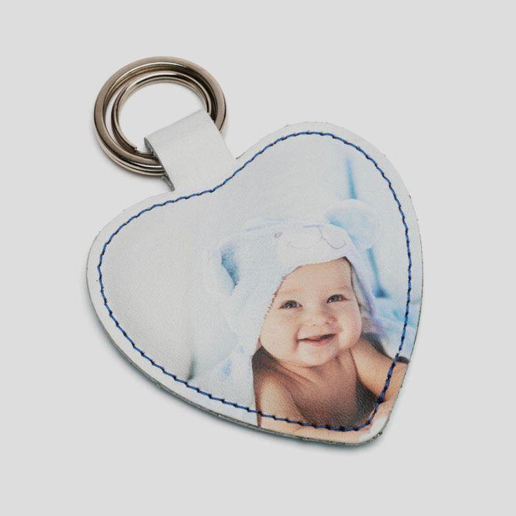 dubbelsidig nyckelring hjärta present