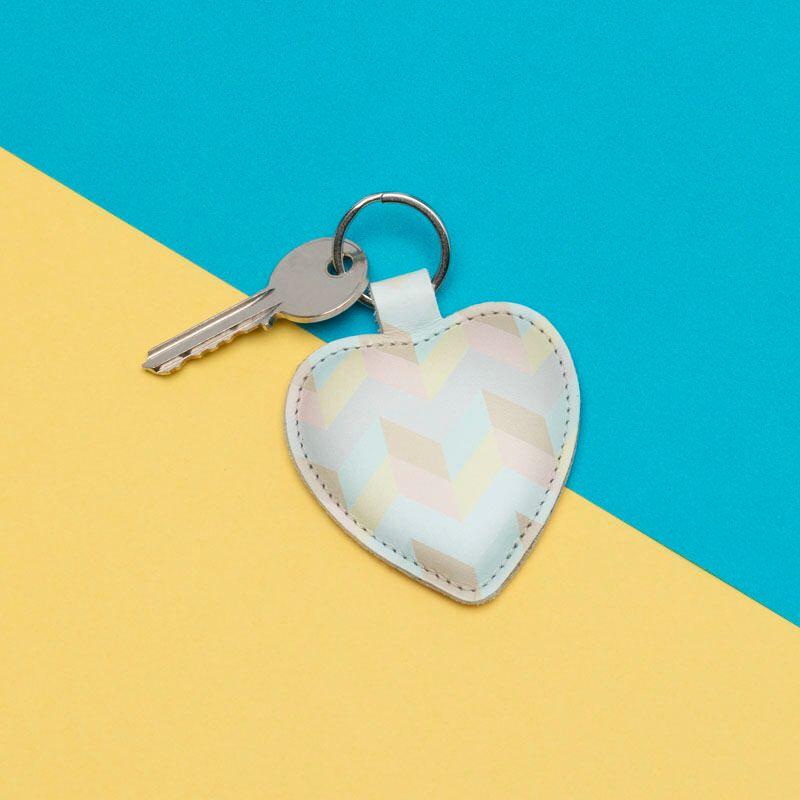 custom love heart keyring