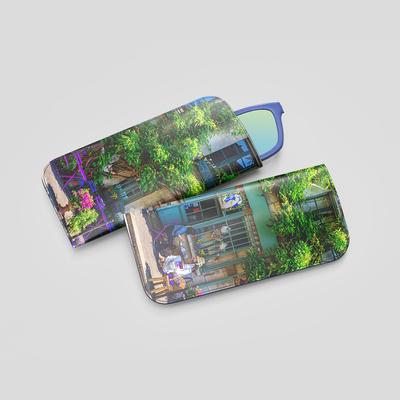 funda gafas cuero personalizada fotos