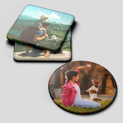 personliga glasunderlägg med foto