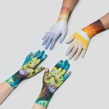 personalised mens women's gloves