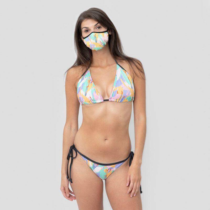 designer bikini and face mask