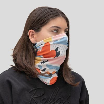 tubscarf med egendesignat tryck