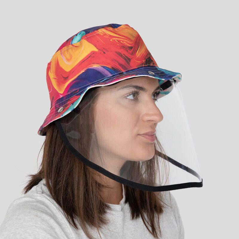 Gesichtsschirm mit Hut