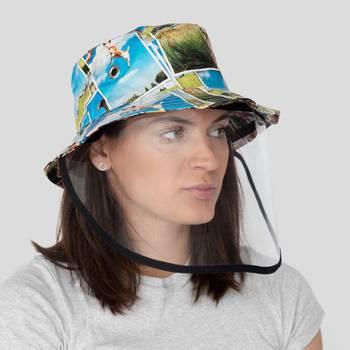 chapeau seau avec visière