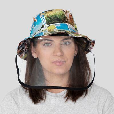Cappello personalizzato con visiera protettiva