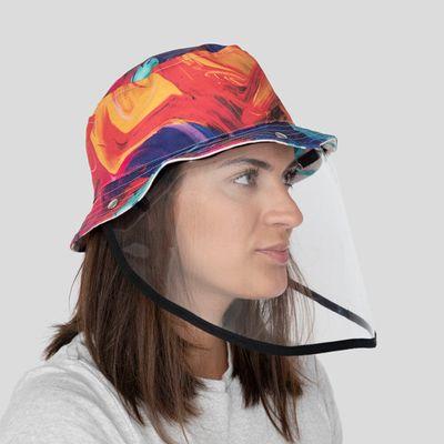 Hut mit Gesichtsschirm bedrucken