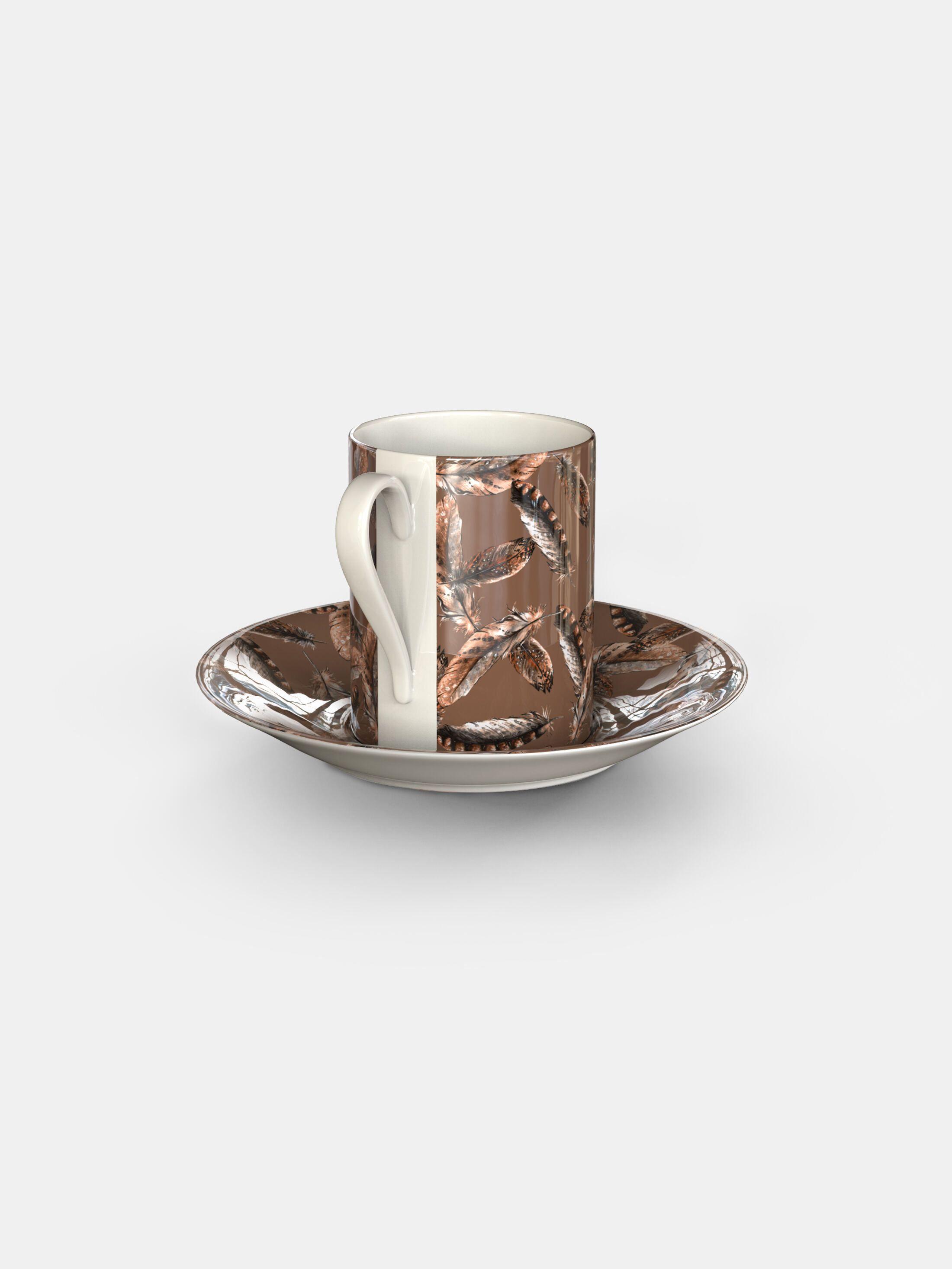 gepersonaliseerde espresso kop-en-schotel