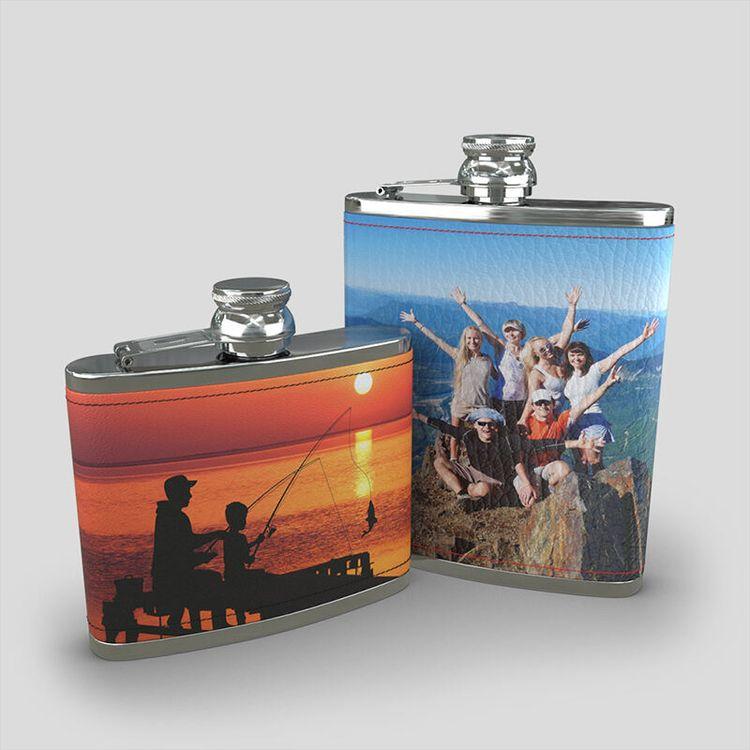 Flasque personnalisée avec photo