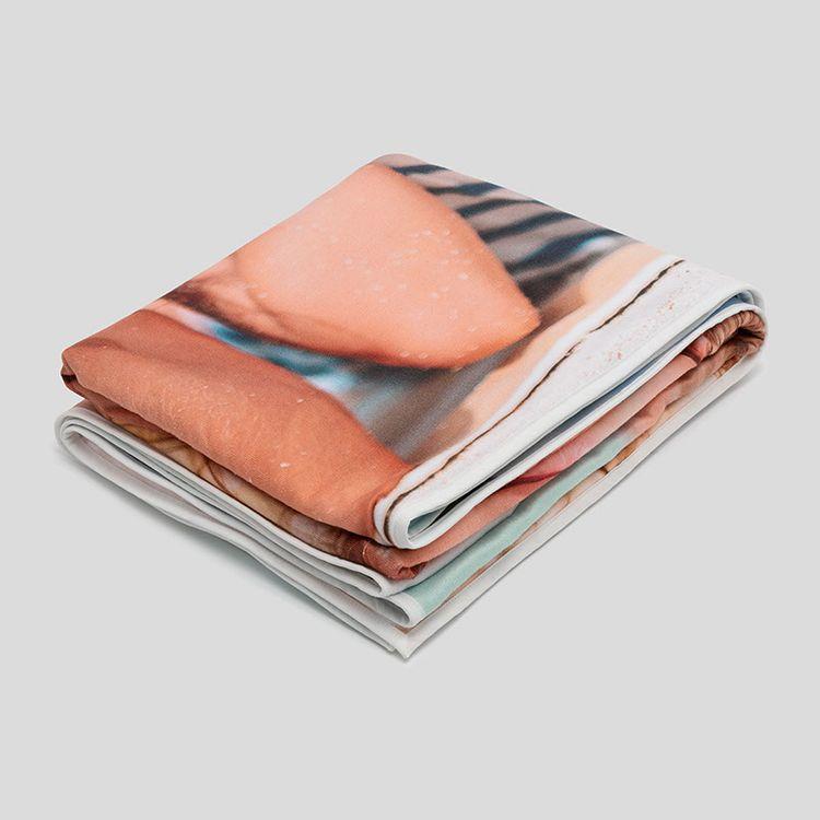 Double sided custom beach towels