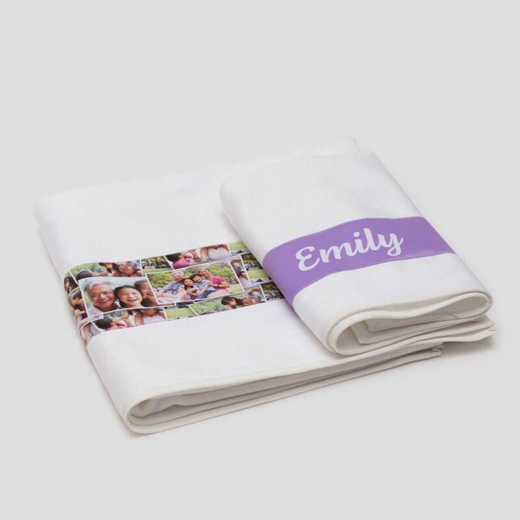 custom couples beach towels